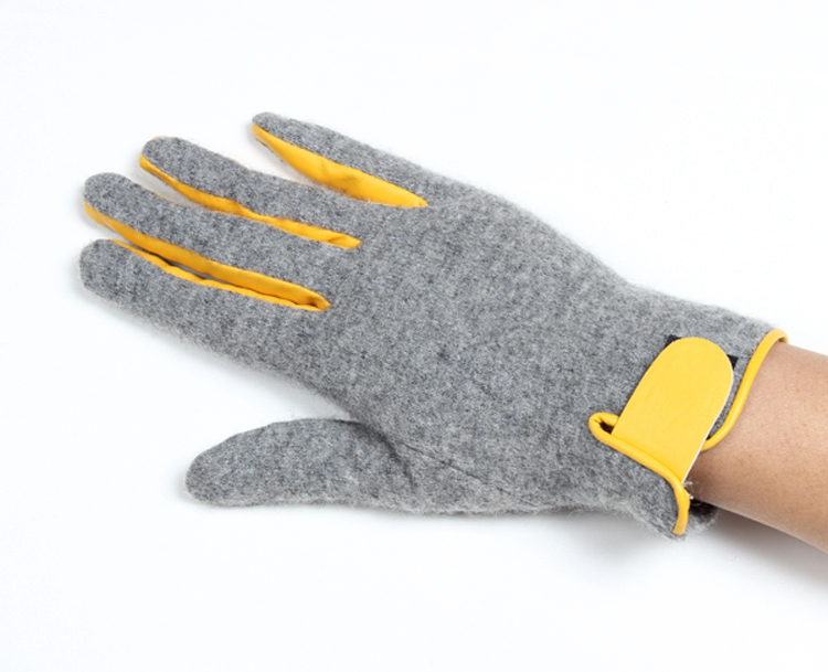 Popular stylish gray cars driving gloves ladies touch screen gloves with anti-slip point