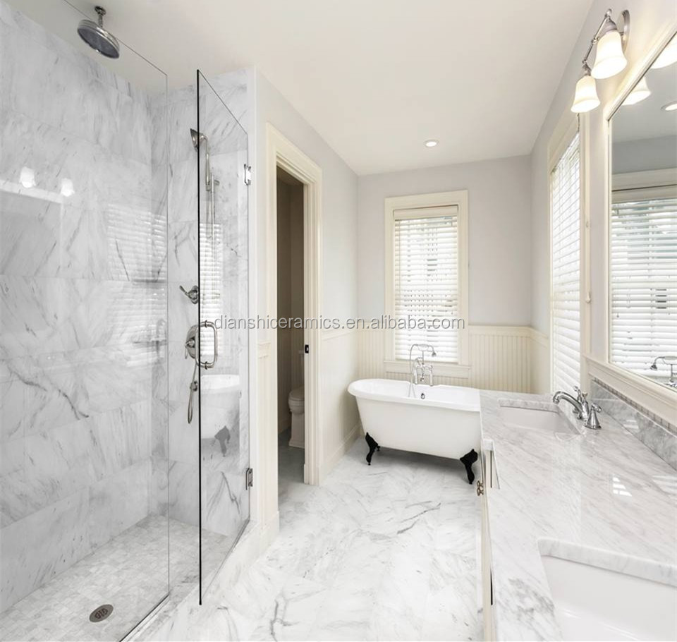 300x600 carrara white porcelain tiles polished glazed wall tiles ...