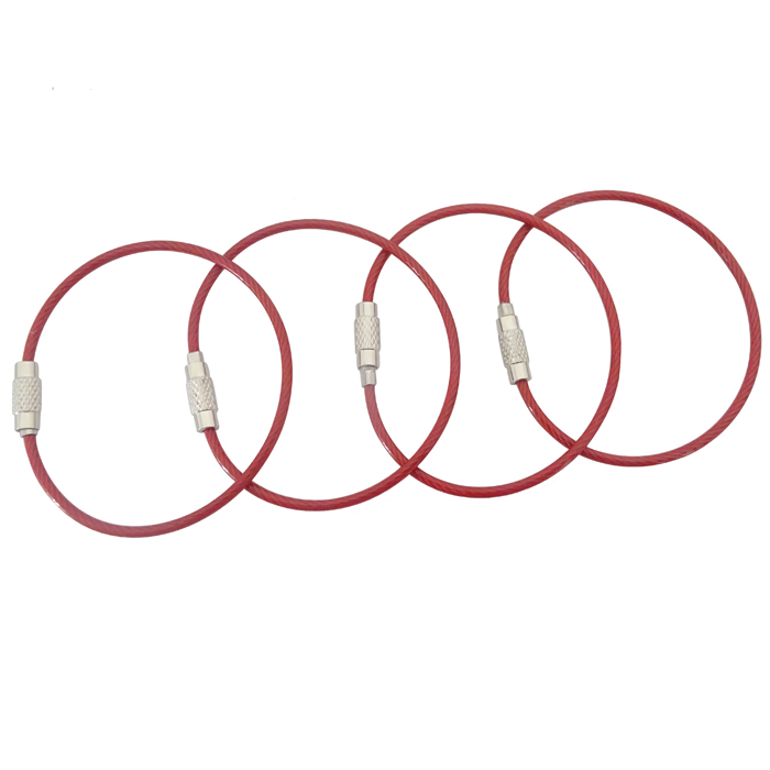 Stainless Steel Cable Key Ring Keychain Keys Wire Rope For Sale