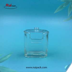 100ml Manufacture Unique Rectangle Glass Perfume Bottle with crimp mist sprayer