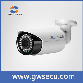 GWSECU Lowest Price varifocal lens bullet h.265 vandal proof ip camera