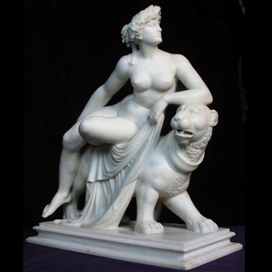 Best detailed cast stone figure sculpture with animal