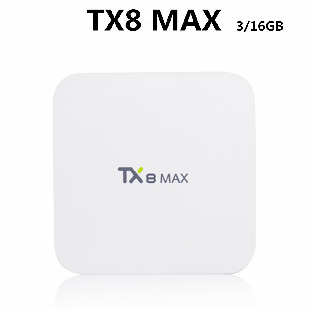 Cheapest Android Tv Box S912 Android 6.0 Tv Box TX8 MAX 3GB DDR4 Smart Tv Box