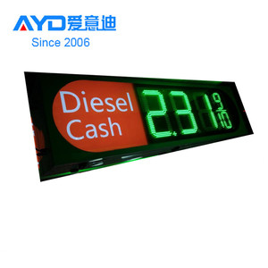 Tower 10inch 7 Segment LED Display , Digital LED Gas Price Sign
