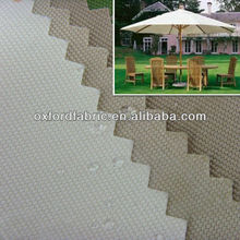 beige color UV protection polyester parasol umbrella fabric waterproof canvas fabric for tent and awning fabric
