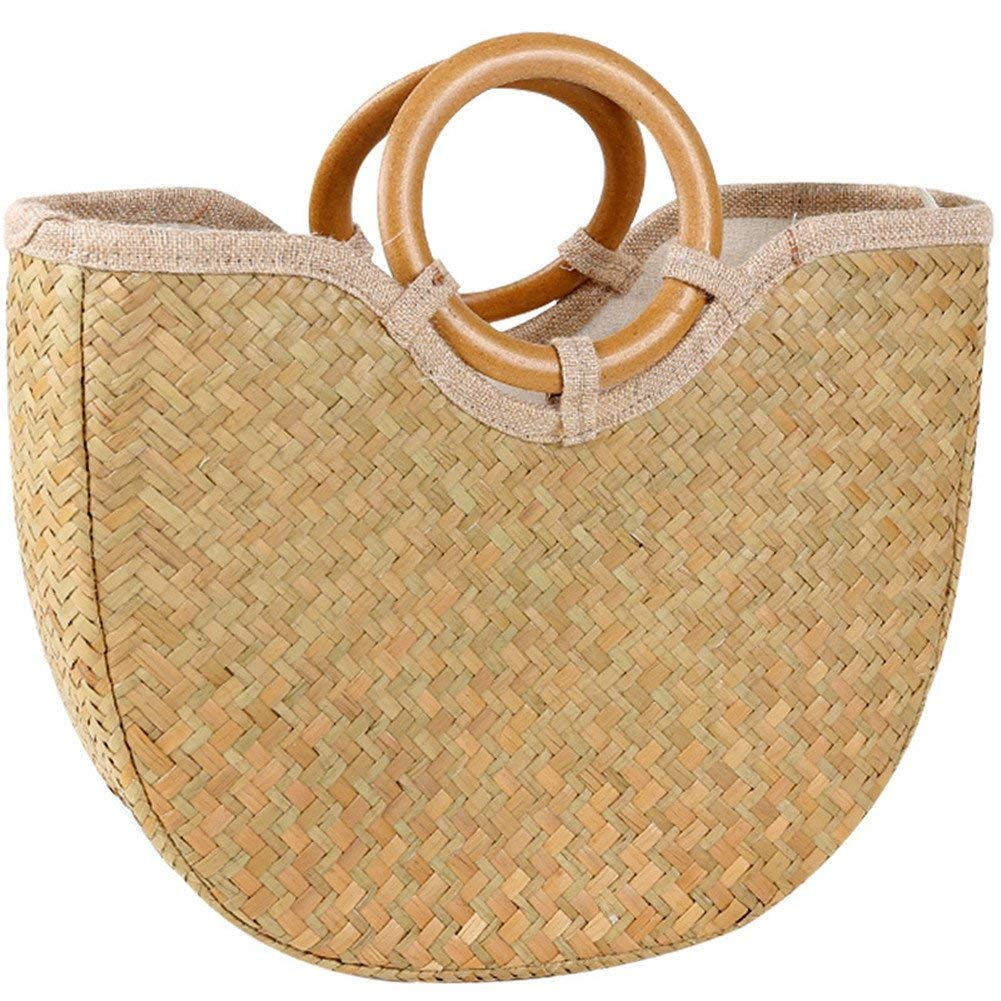c13f685c0c88 Buy Bamboo Handbag,SHZONS Craft Bamboo Handbag Bamboo Basket Purse ...