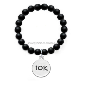 10k Marathon Distance Sport Charm Glass Beads Bracelet Wholesale Alibaba Jewellery