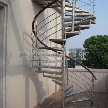 Durable Outdoor Galvanized Metal Spiral Staircase Prefabricated Stairs
