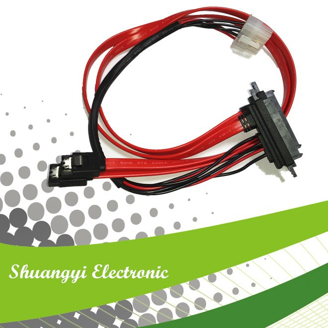 SATA 22p*2 to SATA 7P and PH4.2 HSG with 2 latch