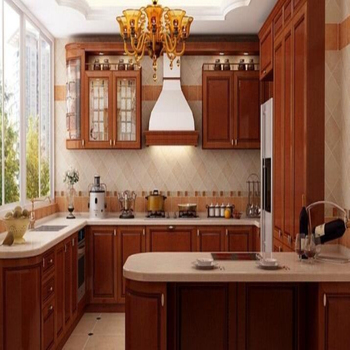 High Gloss Kitchen Cabinet 20mm Crystal Quartz Stone Material