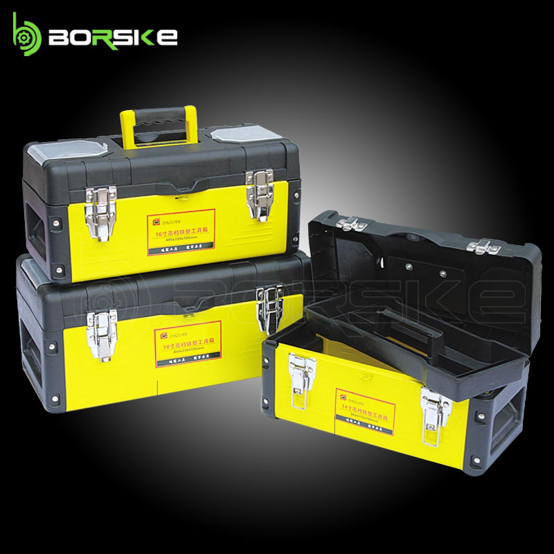 Newest 14'' /16'' /18'' Iron plastic tool box and mechanical toolbox with high quality