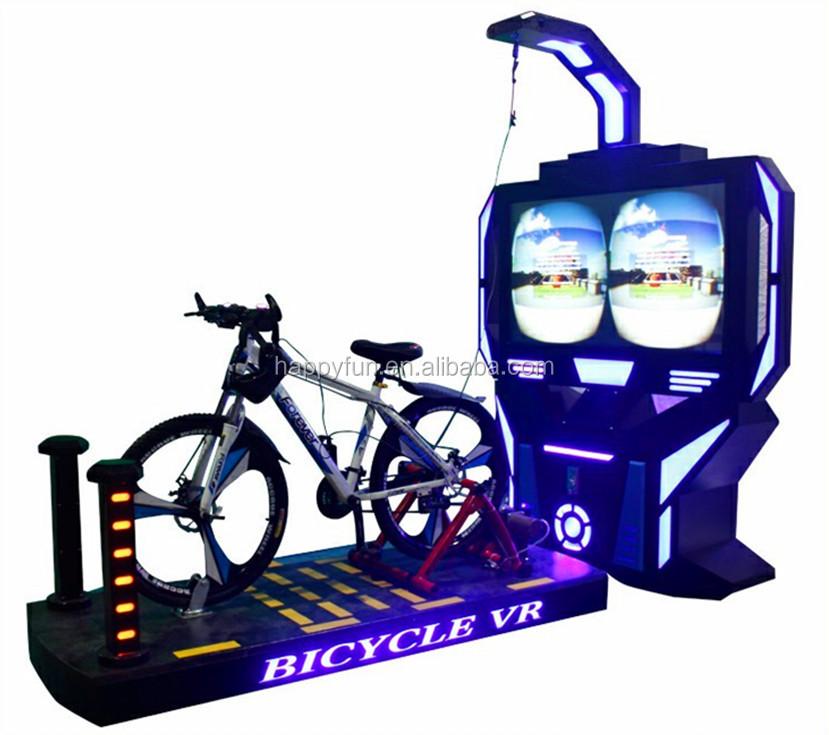 Interactive 9d bike ride adult virtual reality simulation