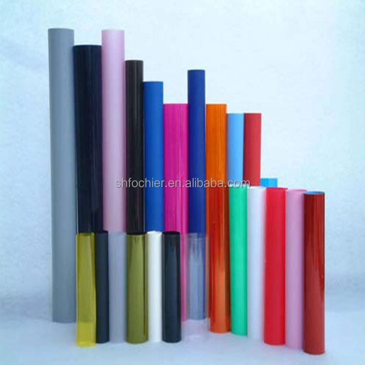 สีที่มีความยืดหยุ่นพลาสติกพีวีซีม้วนแผ่นพลาสติกแข็งแผ่นพีวีซี1มิลลิเมตร