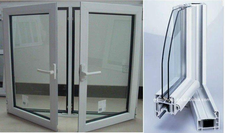 Buena calidad de pvc con doble acristalamiento ventanas for Ventanas de aluminio doble vidrio argentina