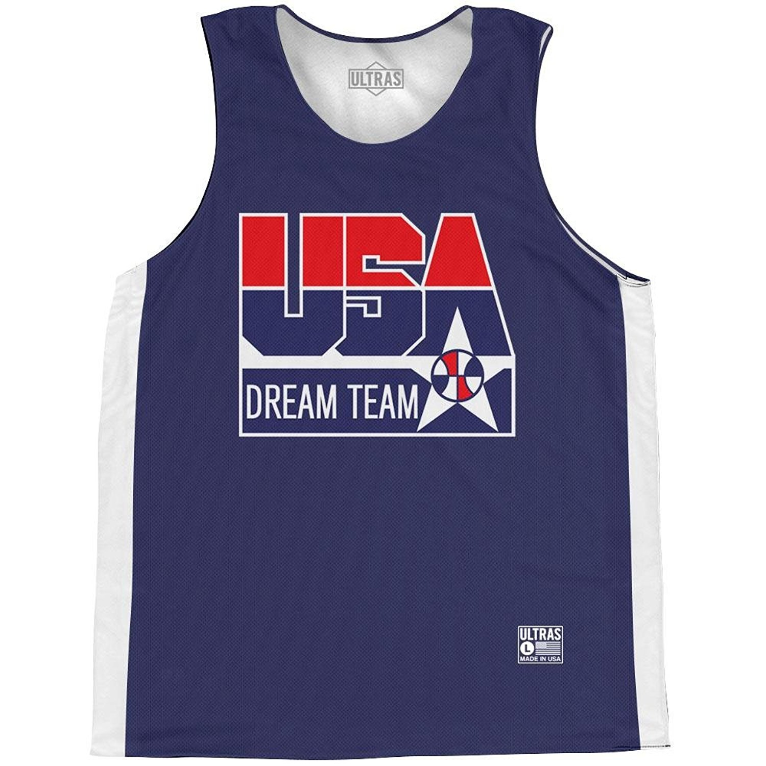 d943cdb5f957 Get Quotations · USA Dream Team Basketball Practice Singlet Jersey