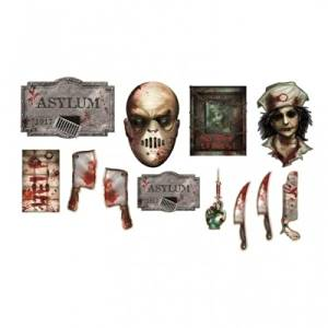Amscan Sinister Surgery Asylum Printed Cut Outs (12 Pack)