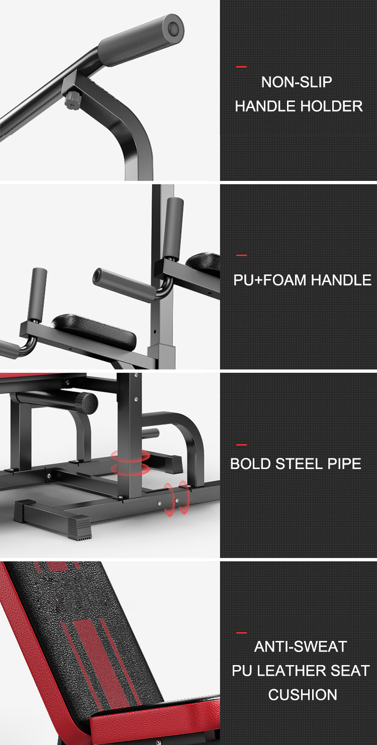 Customized chin up Strength fitness station gym home commercial wholesale sports equipment multi weight bench