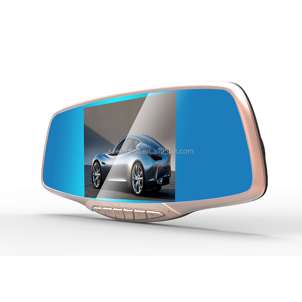 2016 Bluetooth HD 1080P 4.3 inch Car DVR Rearview Mirror Monitor +Rear Camera Video Recorder