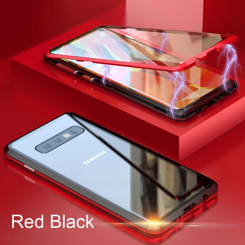 Oppselve 360 двухсторонний Магнитный адсорбционный чехол для Samsung S10 S9 S8 Plus + закаленное стекло Магнитный чехол для Samsung Note 9 8(Китай)