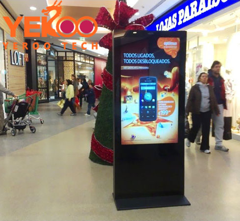 TFT Type and Indoor Application floor stand totem monitor digital signage high brightness lcd network wifi advertising