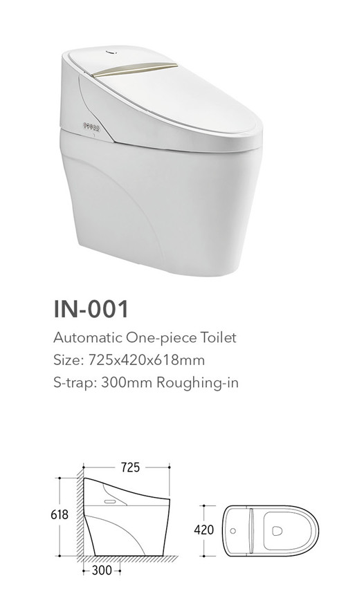 vacuum flush intelligent wc smart toilet sanitary ware from china