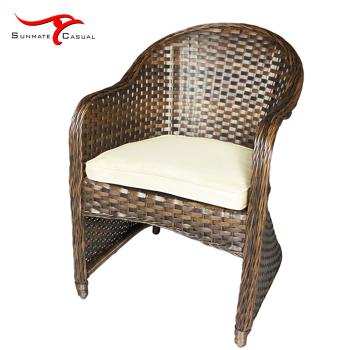 Aluminum Frame Outdoor Bistro Rattan Garden Patio Wicker Weave Furniture Sofa Chair