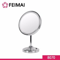 8 Inch Free Standing Round Vanity Magnifying Mirror With Led Lights 8070