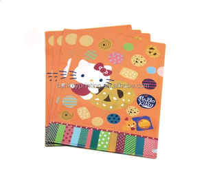Cartoon Design L-Shape PP File Folder for Stdents