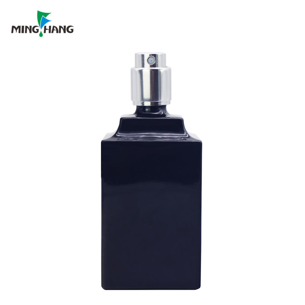 Square Fancy Customize Color Empty Botella De Perfume atomizer Perfume Glass Bottle With Pump Spray