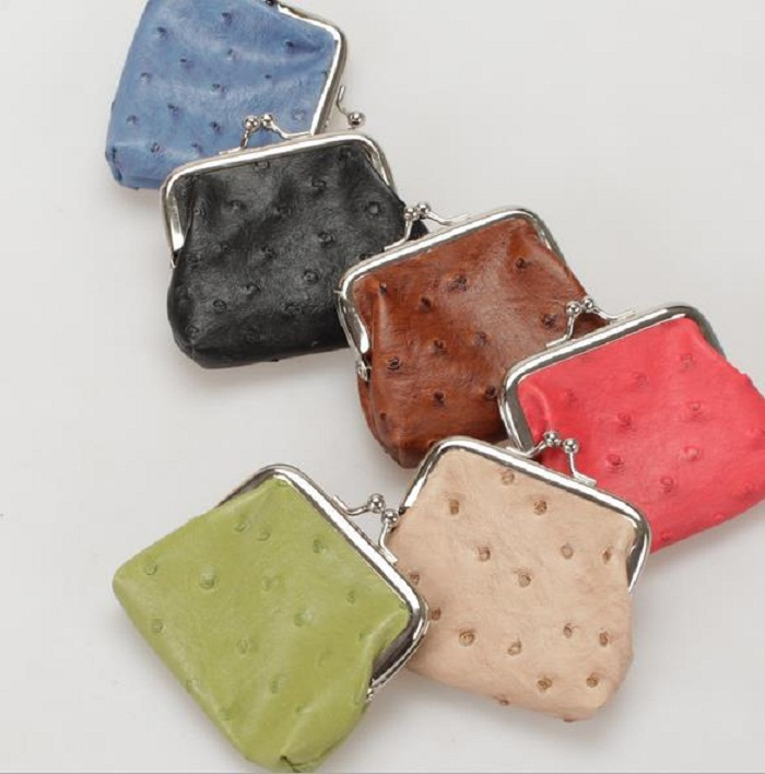 High quality blank handmade coin ladies small fake animal leather coin purse