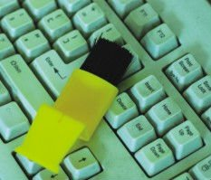 Plastic computer brush/Pomotional keyboard brush