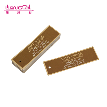 Custom design embossed printing paper hang tags for clothing