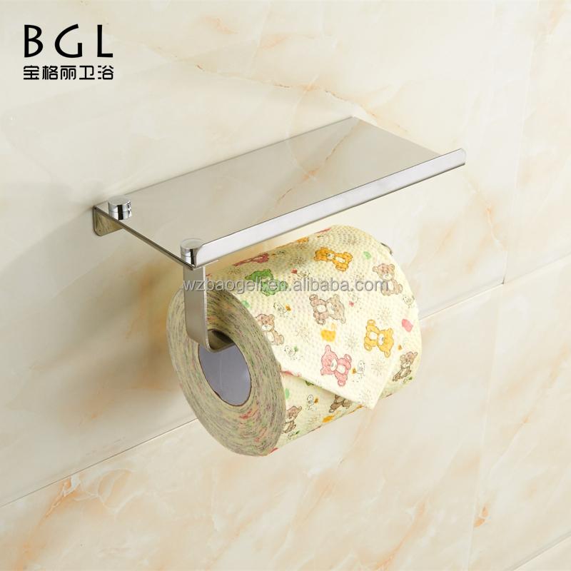 Heißer verkauf Klassische Design Edelstahl Chrom Wandmontage Toilettenpapierhalter mit Telefon Speicher