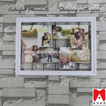 China Family Naturalism Photo DIY Modern Wood Plastic MDF Metal Frame Decorative Wall Hanging