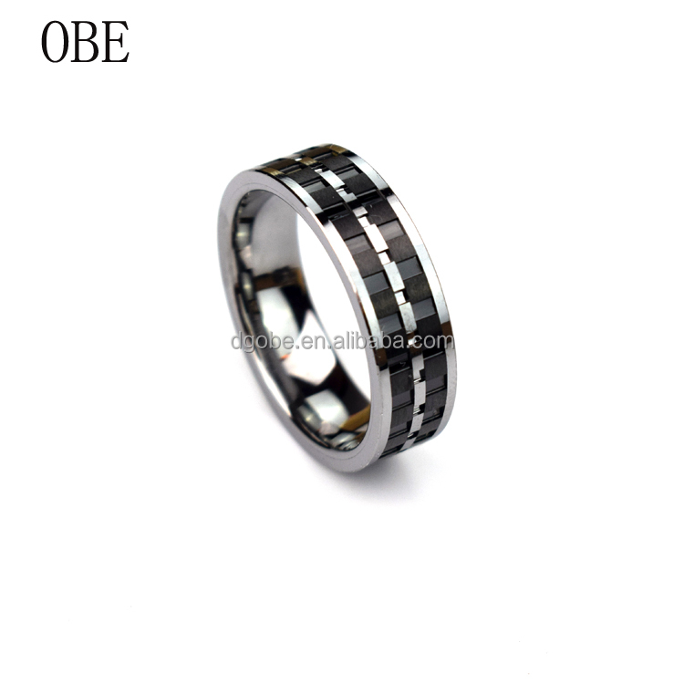 2017 OBE jewelry new arrival Hot sale antique figner alibaba tungsten rings for men