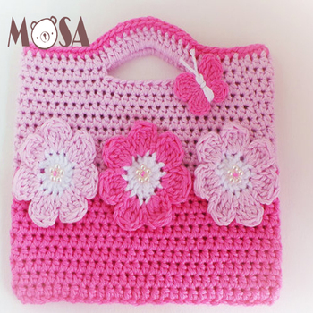 Cute Hand Crochet Children Girl Bag 3c9903e5d0944
