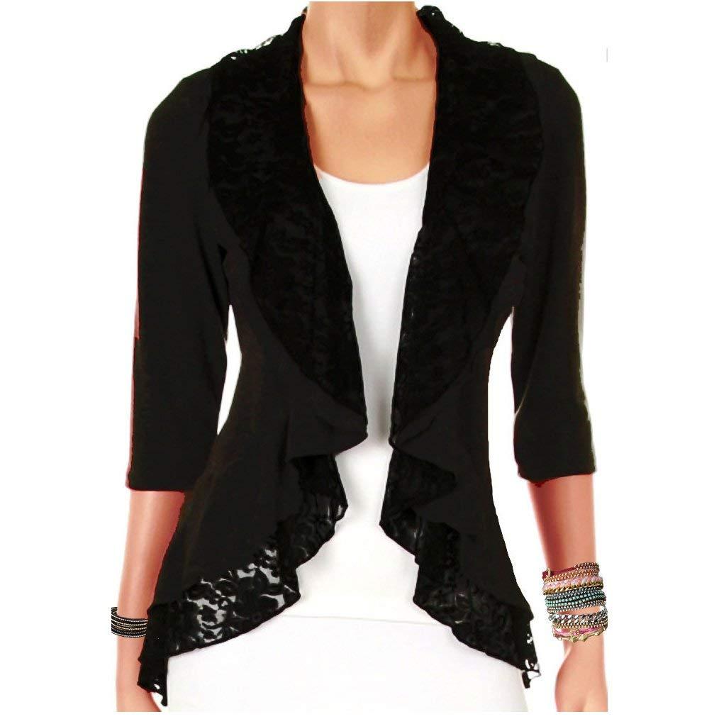 b92f7127d9ec77 Funfash Plus Size Women Black Lace Cardigan Sweater Jacket Shrug Top Made  in USA
