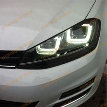 Modificato Angel Eyes Faro Stile U Per <span class=keywords><strong>VOLKSWAGEN</strong></span> <span class=keywords><strong>Golf</strong></span> 7-UP Anno