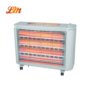 5 Heat Setting Caster Safety Humidifier Quartz Heater with Fan