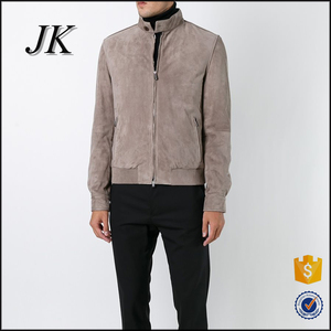 latest mens sude motocycle outwear jacket banded collar cool jacket