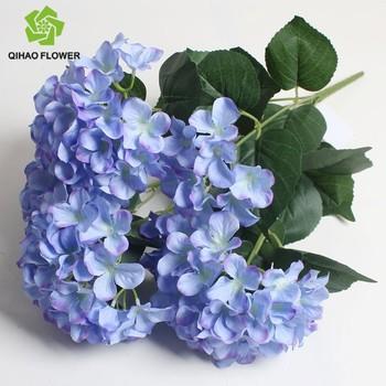 Wholesale Artificial Silk Hydrangea Flowers Blue Silk Flowers