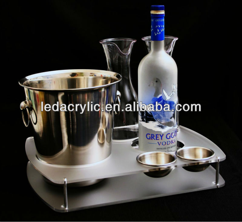 grey goose vodka acrylic service tray