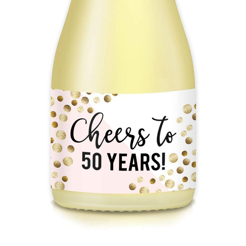 Get Quotations WOMENS 50th BIRTHDAY Party Ideas Decorations Mini Champagne Or Wine Bottle Labels CHEERS