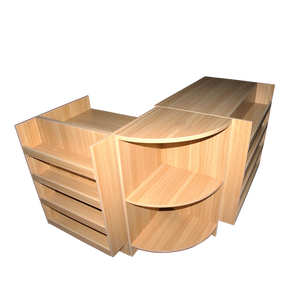 Combined supermarket shelf wooden cashier counter table