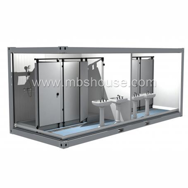 Mobile shipping container toilet with shower room buy for Shipping container public bathroom