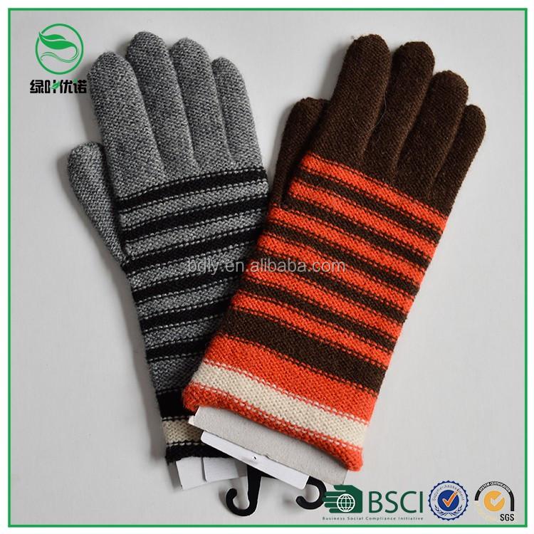 Stripe Fashion Design Men/women Winter Knitting Woolen Gloves ...