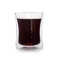 2019 Hot New Products Double Wall Glass Mug Coffee Cup without Handle 350ml