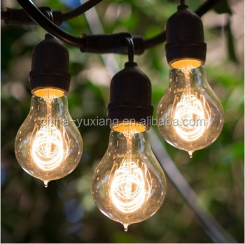15 E26 A19 Vintage Edison Bulbs With Outdoor String Lights