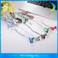 Super bass Epoxy earphone with OEM brand for promotion