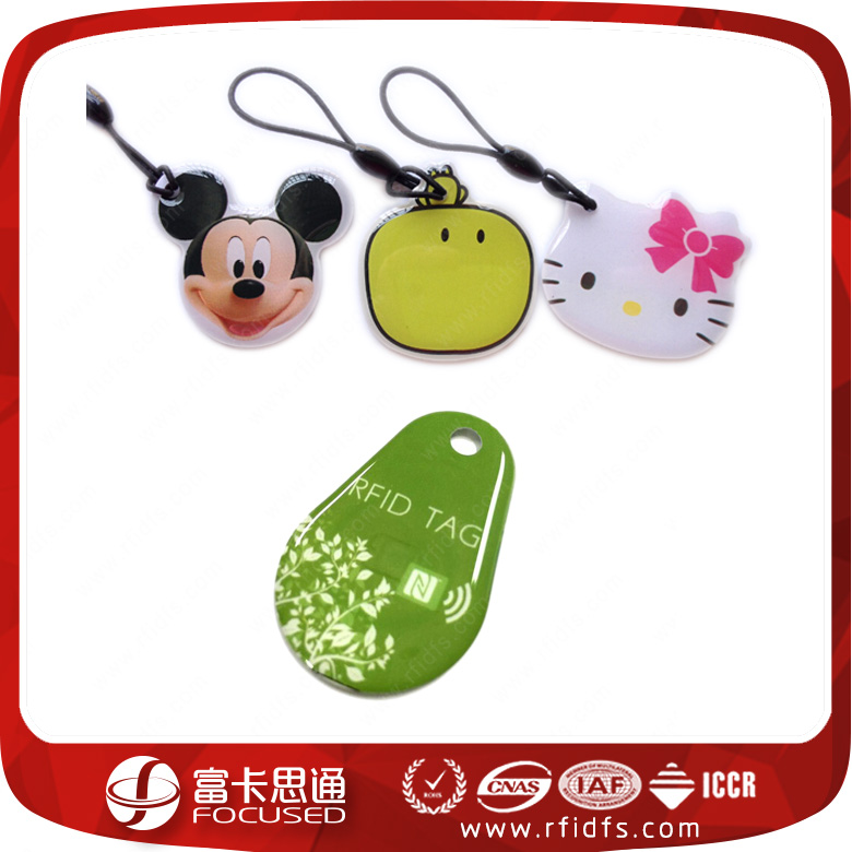 Waterproof Contactless RFID Key Tag Card 125KHz For Access Control